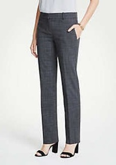 Ann Taylor The Tall Straight Leg Pant In Fine Crosshatch - Curvy Fit