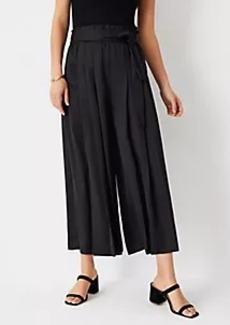 Ann Taylor The Tie Waist Pleated Culotte Pant