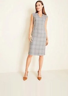 Ann Taylor The V-Neck Dress in Windowpane