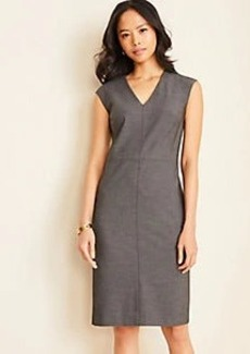 Ann Taylor The V-Neck Sheath Dress in Bi-Stretch