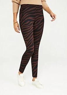 Ann Taylor The Zebra Print Seamed Legging