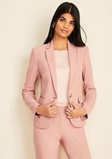 Ann Taylor The Petite One-Button Blazer in End On End