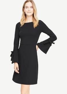 Tie Bell Sleeve Flare Dress