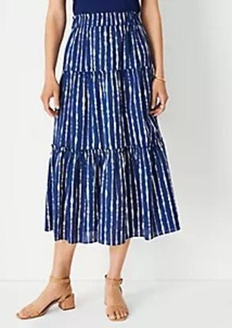 Ann Taylor Tie Dye Gathered Tiered Midi Skirt