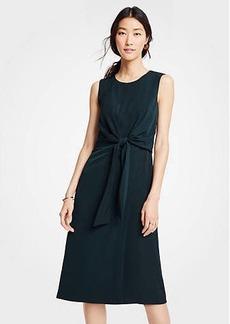 Ann Taylor Tie Front Midi Dress