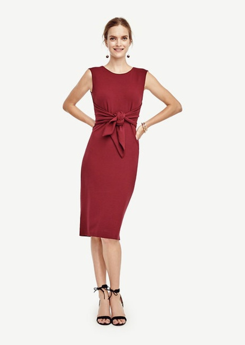 Ann Taylor Tie Front Sheath Dress