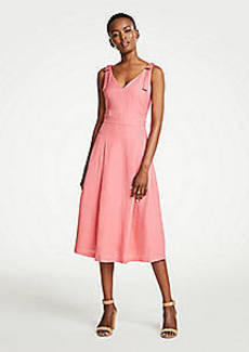 Ann Taylor Tie Shoulder Midi Dress