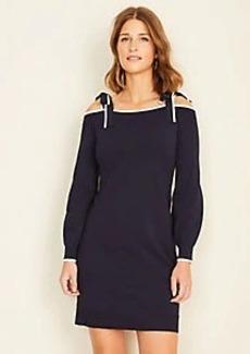 Ann Taylor Tie Shoulder Sweater Dress