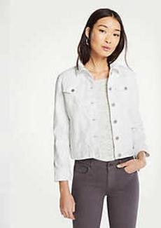 Ann Taylor Tie Sleeve Denim Jacket