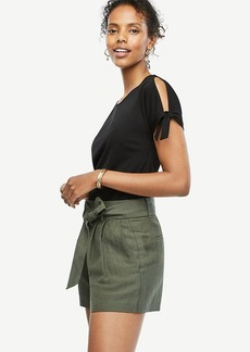 Tie Sleeve Open Shoulder Top