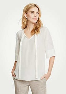 Ann Taylor Tie V-Neck Top