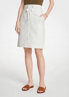 Ann Taylor Tie Waist A-Line Skirt