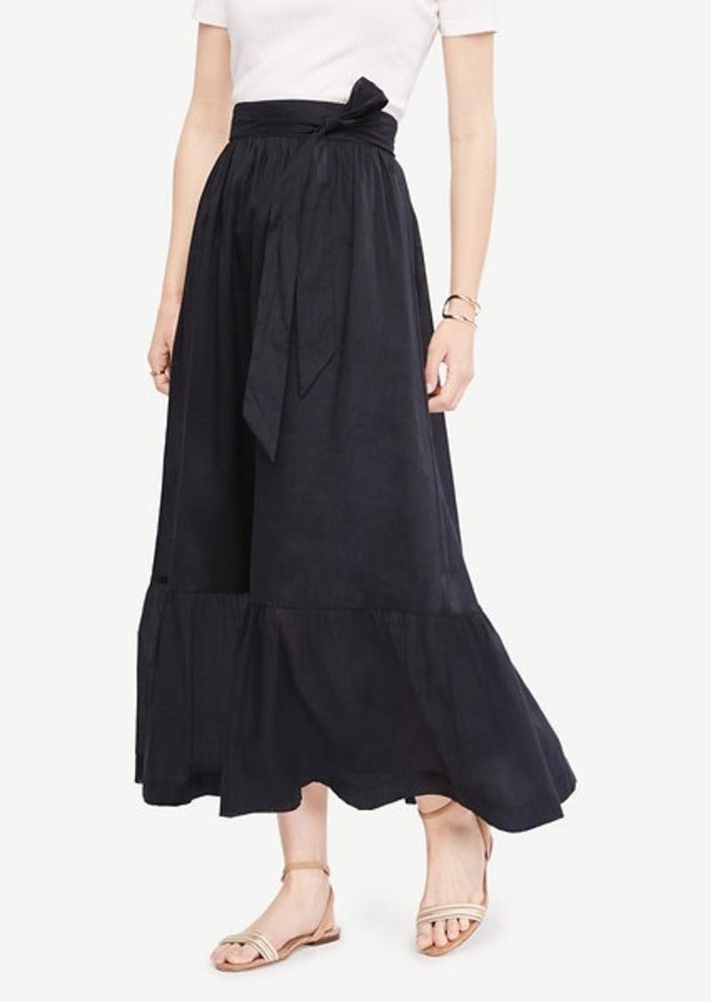 d162d680de Ann Taylor Tie Waist Maxi Skirt Now $59.93