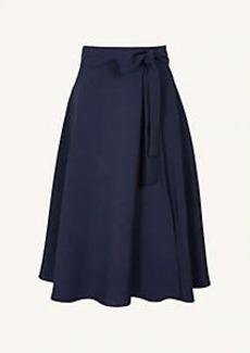 Ann Taylor Tie Waist Midi Skirt