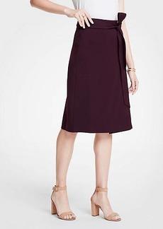 Ann Taylor Tie Waist Midi Wrap Skirt