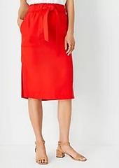 Ann Taylor Tie Waist Patch Pocket Pencil Skirt