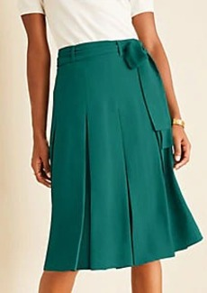 Ann Taylor Tie Waist Pleated Skirt