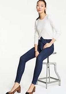 Ann Taylor Tie Waist Skinny Jeans