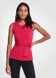 Ann Taylor Tie Waist Sleeveless Sweater