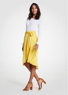 Ann Taylor Tie Waist Wrap Maxi Skirt