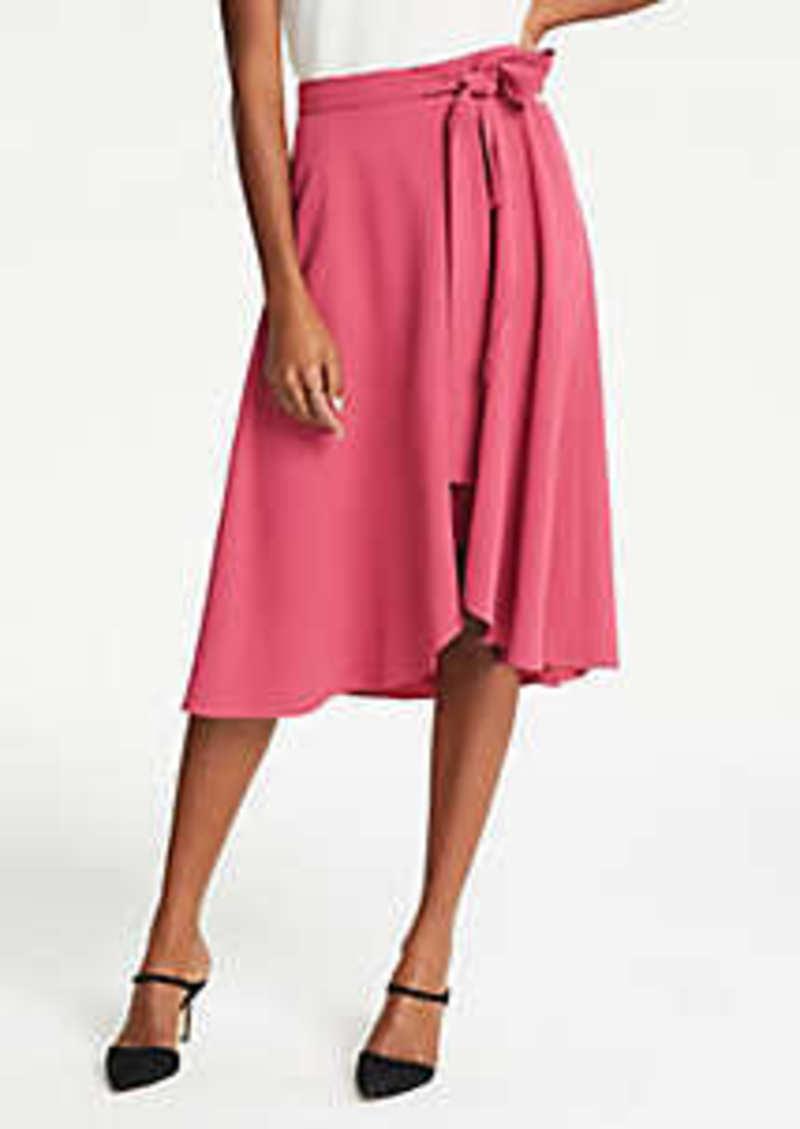 Ann Taylor Tie Waist Wrap Skirt