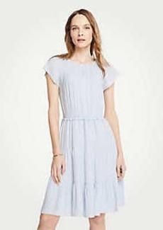 Ann Taylor Tiered Flutter Sleeve Dress