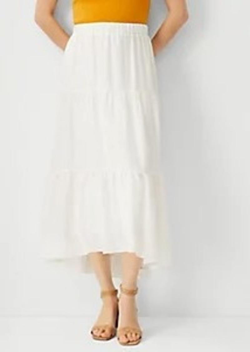 Ann Taylor Tiered Full Skirt