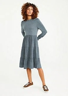 Ann Taylor Tiered Mock Neck Shift Dress