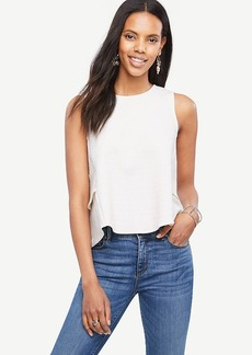 Ann Taylor Tiered Ruffle Back Shell