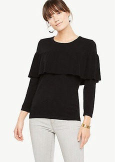 Ann Taylor Tiered Ruffle Sweater