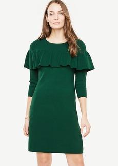 Tiered Ruffle Sweater Dress