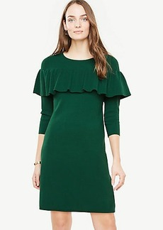 Ann Taylor Tiered Ruffle Sweater Dress