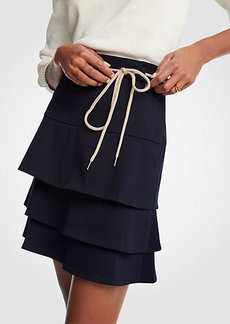 Ann Taylor Tiered Tie A-Line Skirt