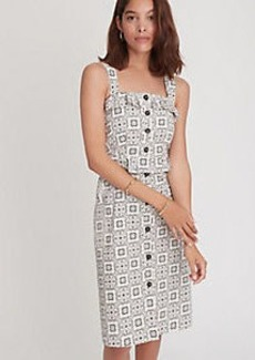Ann Taylor Tiled Ruffle Sheath Dress