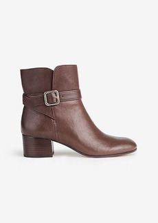 Tinley Leather Buckle Booties