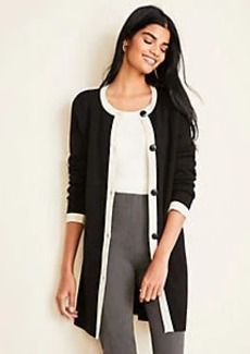 Ann Taylor Tipped Cardigan