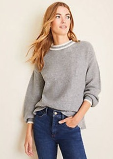 Ann Taylor Tipped Cashmere Sweater