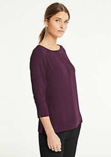 Ann Taylor Tipped Mixed Media Top