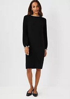 Ann Taylor Tipped Ribbed Sweater Dress