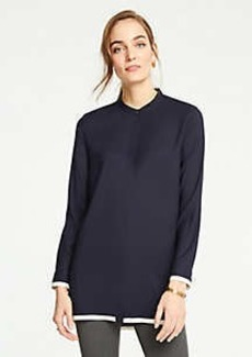 Ann Taylor Tipped Tunic Blouse