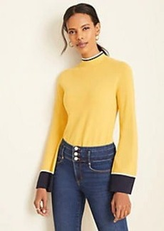 Ann Taylor Tipped Turtleneck Sweater