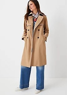 Ann Taylor Tipped Twill Trench Coat