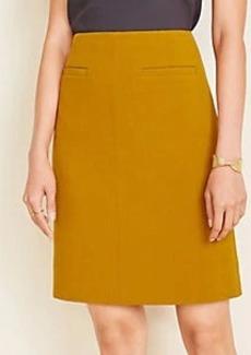 Ann Taylor Topstitched Doubleweave Pocket Skirt