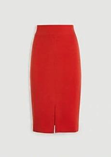 Ann Taylor Topstitched Pencil Skirt