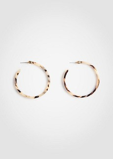 Ann Taylor Tortoiseshell Print Hoop Earrings