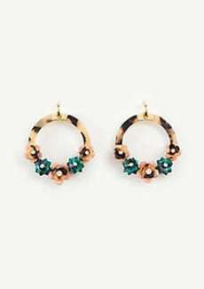 Ann Taylor Tortoiseshell Print Flower Hoop Earrings