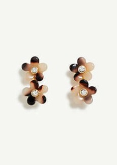 Ann Taylor Tortoiseshell Print Flower Pearlized Drop Earrings