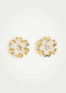 Ann Taylor Crystal Floral Stud Earrings