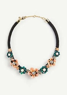 Ann Taylor Tortoiseshell Print Flower Statement Necklace