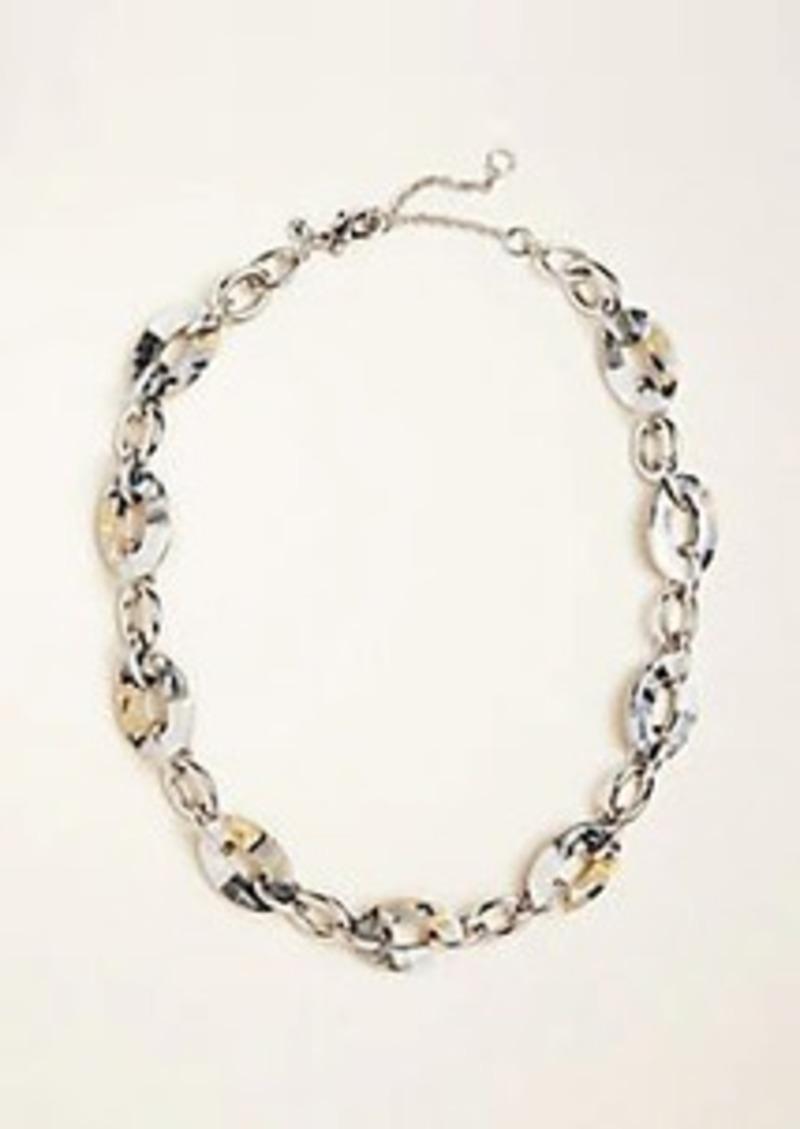 Ann Taylor Tortoiseshell Print Link Necklace